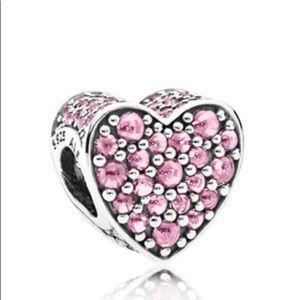 Jewelry - Pandora Pink Dazzling Charm, 792069pcz